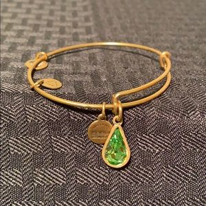 Alex and Ani gold peridot birthstone bracelet